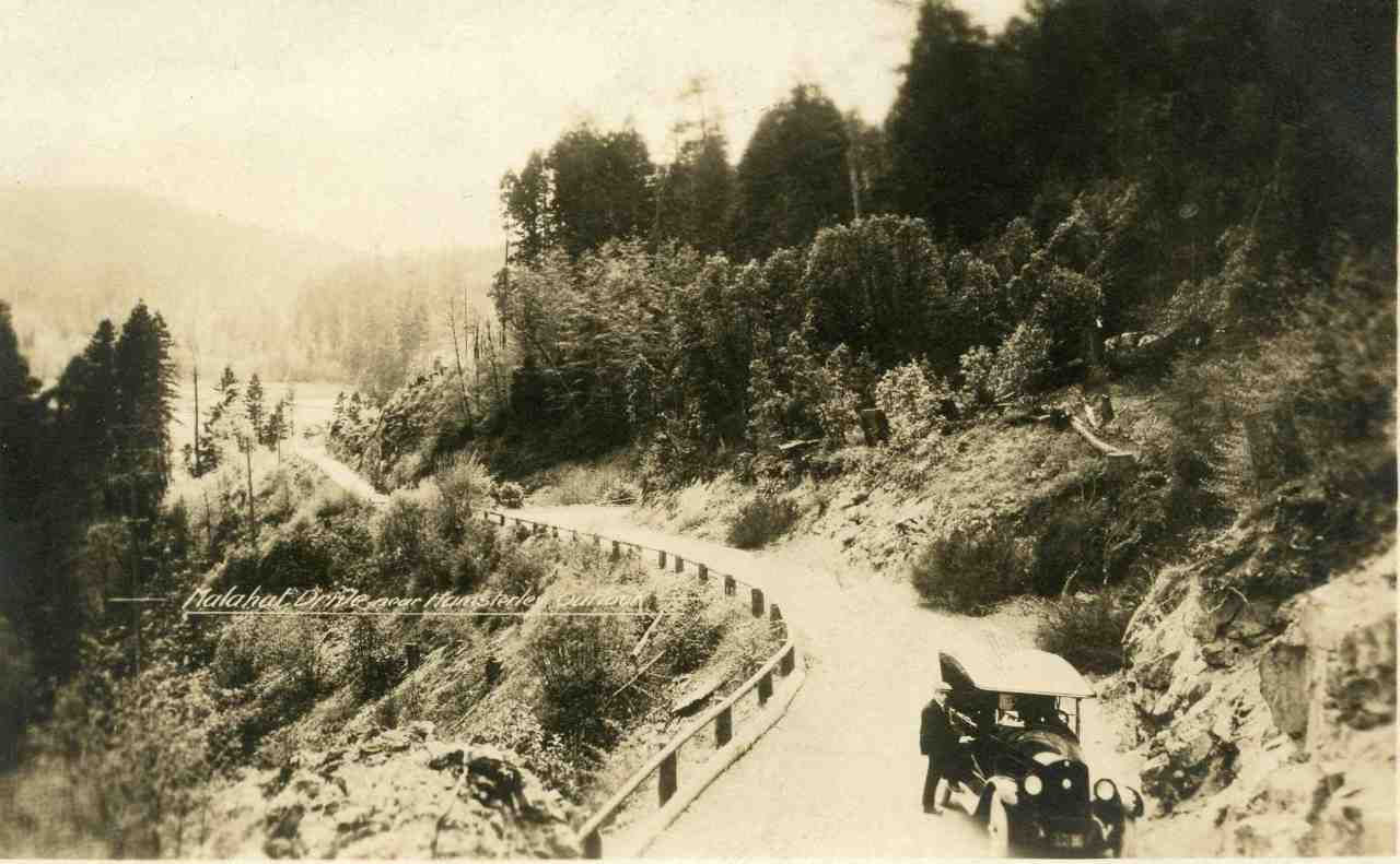 The Malahat Drive in the late 20's or early 30's